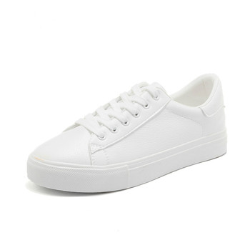 Spring Chic Sneakers for Women All White Casual Shoes Lace Pink Blue Sneakers All Match Chaussure Femme Zapatillas Lona Mujer 2