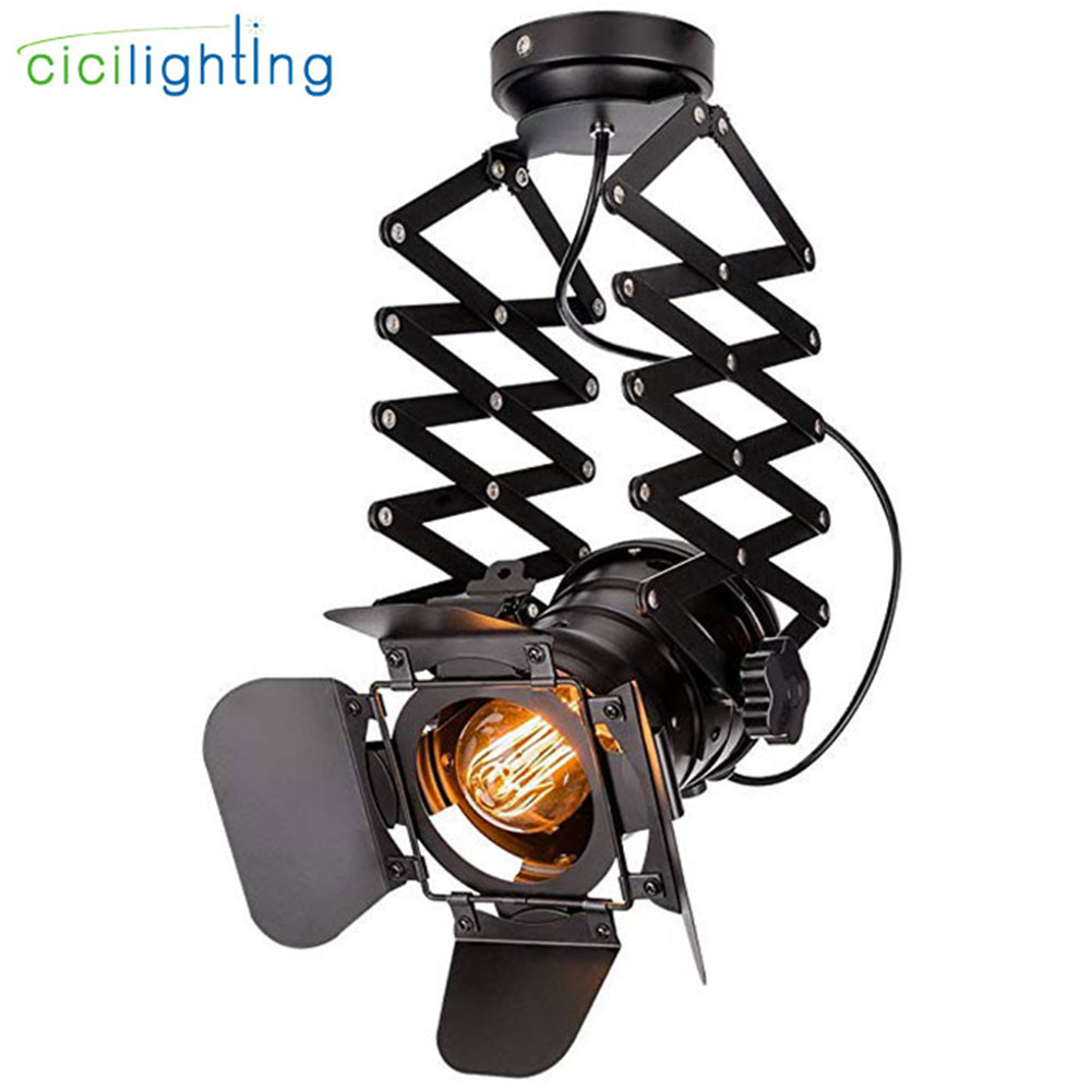 цена на Loft Industrial Iron Ceiling lights Vintage flush mount Lighting LED Shop Track Light Nordic spotlights for Bar Cafe Shop home
