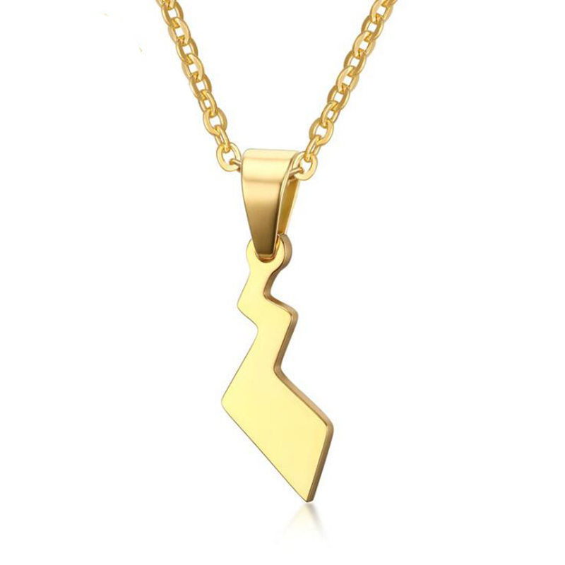 11x255-mm-font-b-pokemon-b-font-pikachu-tail-necklace-for-women-gold-color-lightning-shape-necklace-stainless-steel-20''-chain