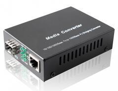 Gigabit Sfp Media Converter,10/100/1000M SFP Media Converter With SFP Fiber Port.  External Power Supply.
