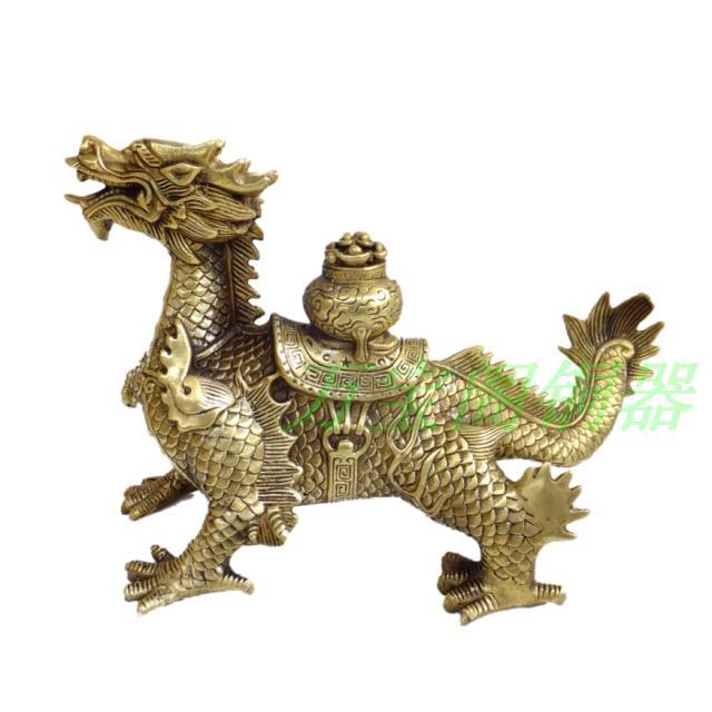 Copper dragon decoration golden dragon feng shui products copper decoration copper crafts