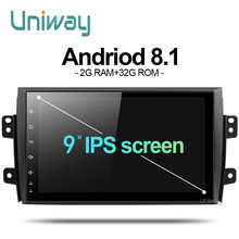 uniway ATY9071 Android 8.1 car dvd for Suzuki SX4 2006 2007 2008 2009 2010 2011 2012 2013 car radio gps navigation(China)