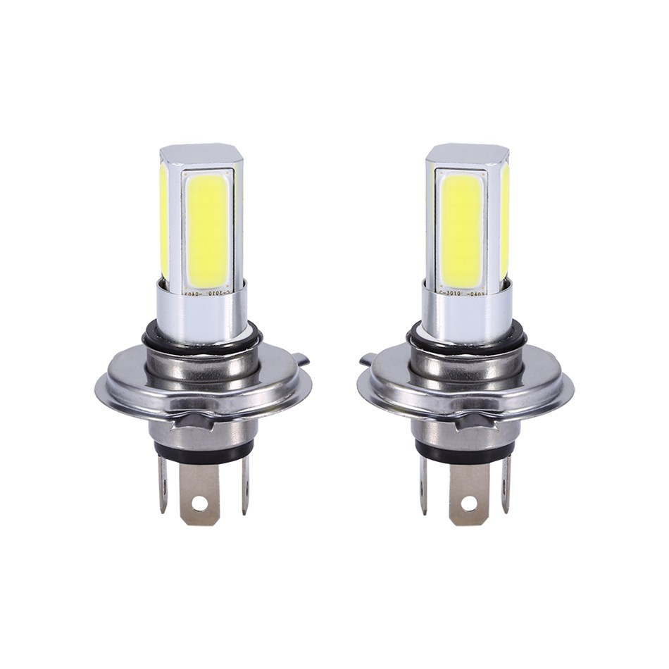 1 Pair Car Auto Light High Power H4 HB2 COB LED Fog Driving Headlight Light Bulb White 6000K idlamp светильник потолочный 818 8pf whitechrome