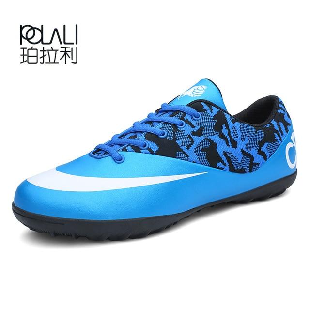 Botas de fútbol para hombres profesionales POLALI SneakersTurf zapatillas  de fútbol de interior para niños originales b347eaa79eab3