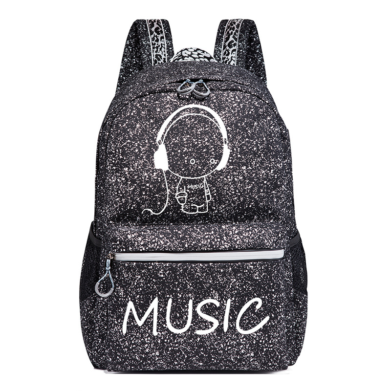 Student Backpack Anime Luminous USB Charge Schoolbag Laptop Backpack For Teenager Boys School Bag Bagpack Travel bags Mochila women men anime black bulter sebastian michaelis backpack rucksack mochila schoolbag bag for school boys girls student travel