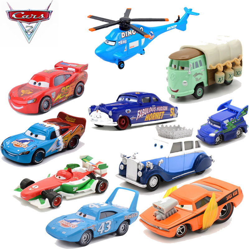 1 55 Disney Pixar Cars 2 Lightning Mcqueen The Kings Chick Hick