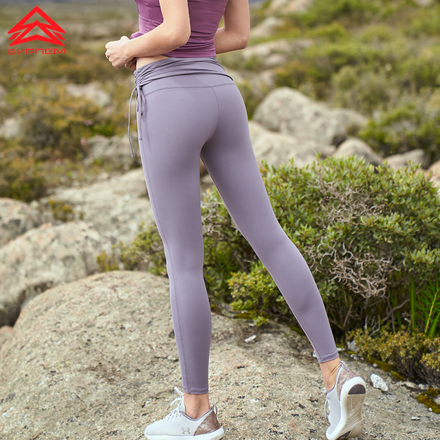 ef6be3b21 SYPREM Yoga Pants women high waist drawstring yoga purple leggings high  elastic lycra new sexy girls yoga pants leggings