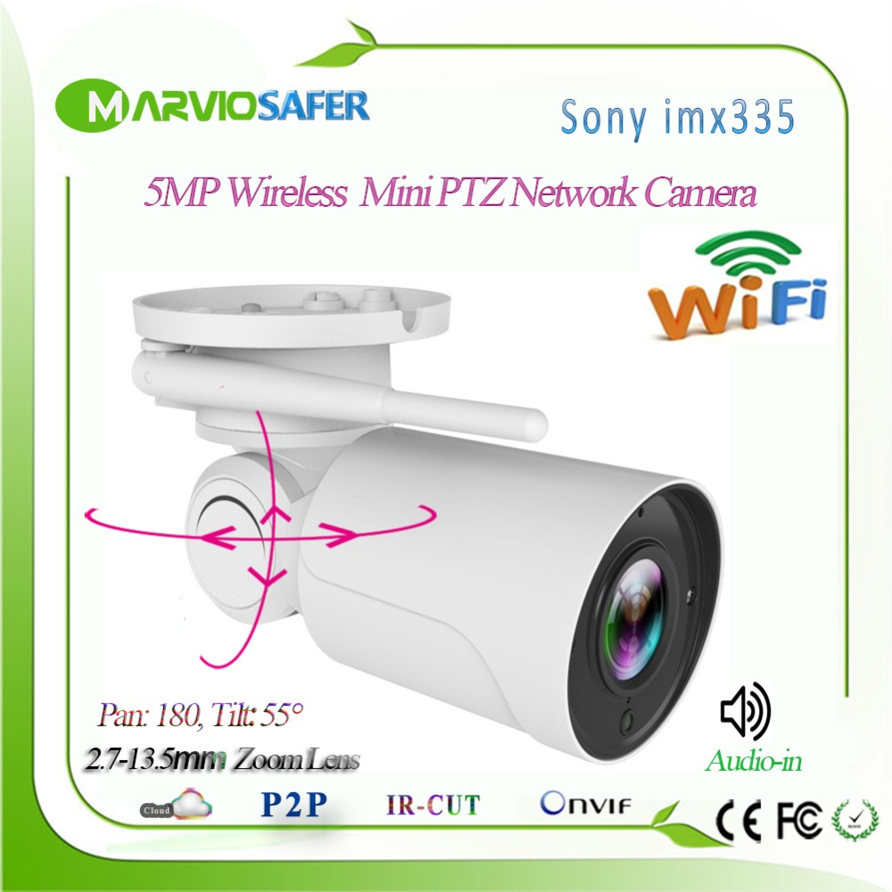 5MP Wireless Outdoor IP CCTV Wifi Network Camera Wi-fi PTZ Security Video Camera 5X Zoom 2.7-13.5mm Autofocal Lens Sony IMX3355MP Wireless Outdoor IP CCTV Wifi Network Camera Wi-fi PTZ Security Video Camera 5X Zoom 2.7-13.5mm Autofocal Lens Sony IMX335