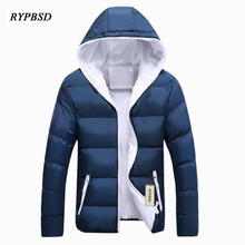 Men Coat Parka Male Winter Coat Thicken Male Hoodie Winter Coat Mens Down Jacket Parka Men Hooded Fashion Casual 6 Colors