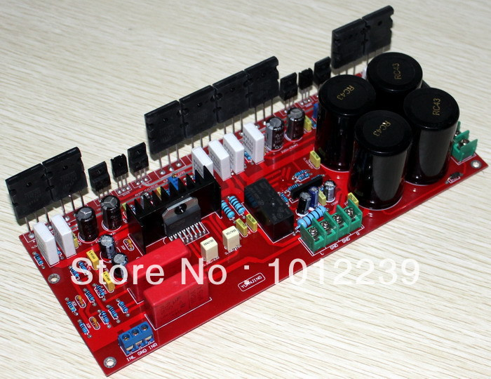 free shipping Assembled LM4702 +19435200 amplifier board (200W +200 W) free shipping assembled 1943 5200 2 1 amplifier board 80w 80 w 100 w without six 10000uf capacitance