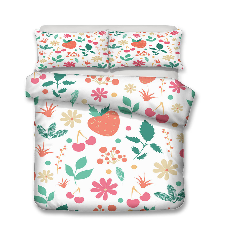 Image 2 - A Bedding Set 3D Printed Duvet Cover Bed Set Flowers Plant Home Textiles for Adults Bedclothes with Pillowcase #XH06-in Bedding Sets from Home & Garden