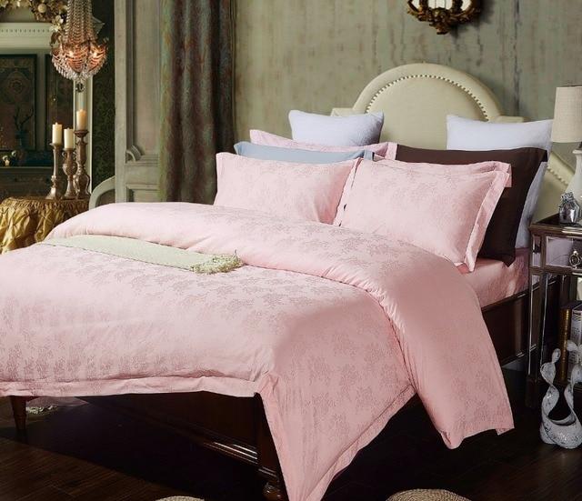 Hotel Rosa Gold Jacquard Bettwasche Sets 4 Stucke Queen Kingsize