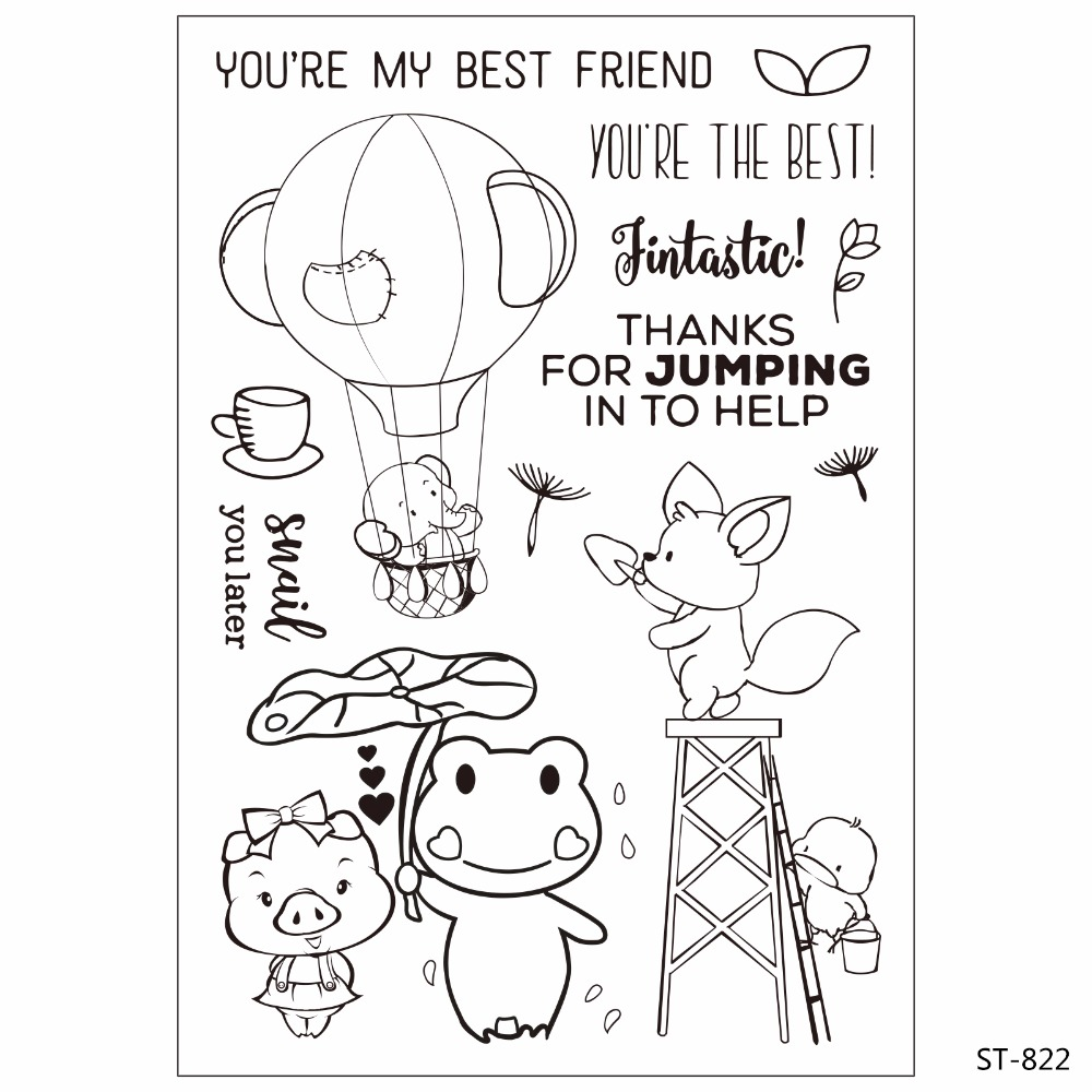 Cute Animals Design Transparent Clear Silicone Stamp seal for DIY Scrapbooking photo Album