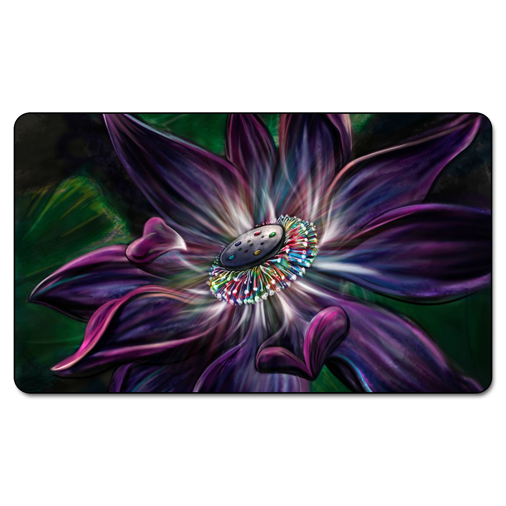 Many Choice Magic Card Games Custom Playmat MGT Lotus Bloom Playmat, Board Games Ultra. Table Pad Pro with Free Bag image