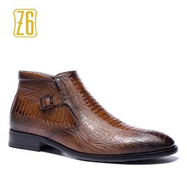 39-48 marka mężczyźni buty Z6 Najwyższej jakości przystojny wygodne Retro skórzane martin buty # R5286-3