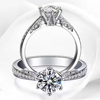 ANI 18K White Gold (AU750) Women Wedding Ring Certified F/SI Luxury 0.66 CT Round Cut 6 Claws Real Diamond Ring for Engagement