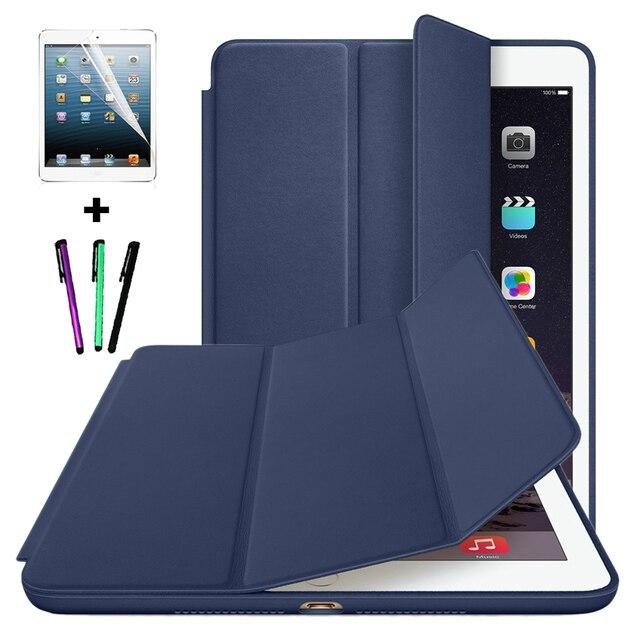 Для IPad Air 2 Смарт Стенд Крышка Чехол для Apple IPad Air 1 Ipad 5/Ipad 6 с Проснуться Покоя + Протектор Экрана + Стилус ручка