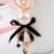 Negro paraguas arco perla esmalte llavero/nuevo 2015 de corea joyería lujo de la marca del bolso/chaveiro/llaveros/porte clef strass