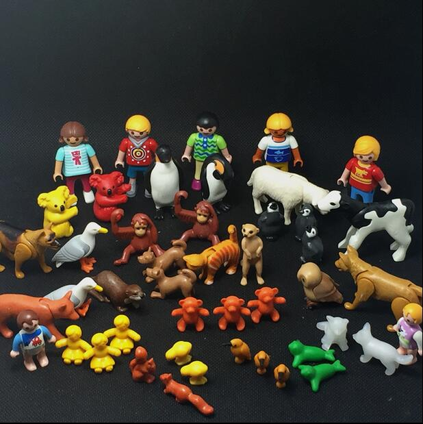 Playmobil Animals Animales Mini Action Figure Toys For Kids Children Panda Bear Dog Dolphin Toys Originals Playmobil  Kids Toys