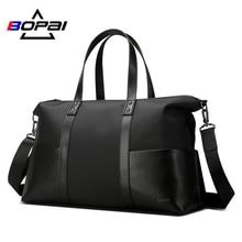 Купить с кэшбэком BOPAI Waterproof Luggage Travel Bags Nylon Leather Handbag Functional Crossbody Shoulder Bags Large Capacity Travel Duffle Bags