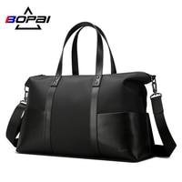 BOPAI Waterproof Luggage Travel Bags Nylon Leather Handbag Functional Crossbody Shoulder Bags Large Capacity Travel Duffle Bags