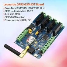 Elecrow leonardo gprs gsm iot placa com sim800c interruptores de relé projetos sem fio diy kit integrado placa com 8 bits avr mcu