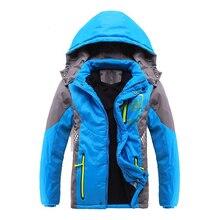 Верхняя одежда для детей теплое пальто спортивная детская одежда двухсторонние водонепроницаемые и ветрозащитные куртки для мальчиков осенние и зимние куртки для девочек