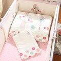 7 unids algodón baby bedding set recién nacido de dibujos animados espesar desmontable cuna bedding bumpers almohada edredón hoja de cama cuna ajuste