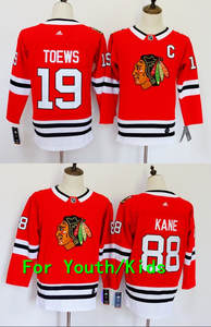 Youth Embroidery Stitched Chicago  19 Jonathan Toews 88 Patrick Kane Kids  Jersey 33a183aab