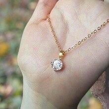 Christmas Gift Fashion Geometry choker Crystal Zircon Necklace Luxury Fine Jewelry Necklaces For Women collares bijoux шарм аксесуары CS13 бижутерия колье украшения украшение на шею