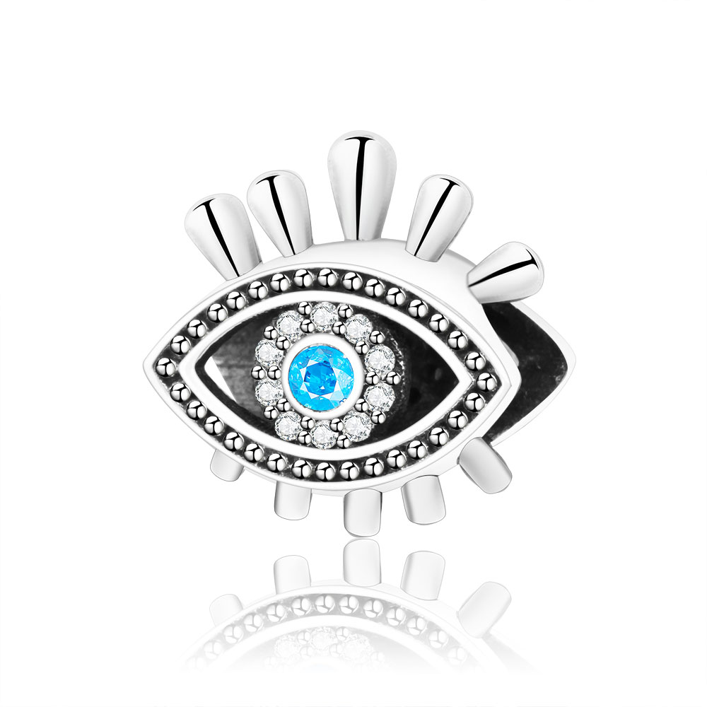 2018 Summer Collection 925 Sterling Silver Eye Charms Beads Fits Original Pandora Charm Bracelet Authentic DIY Jewelry Making