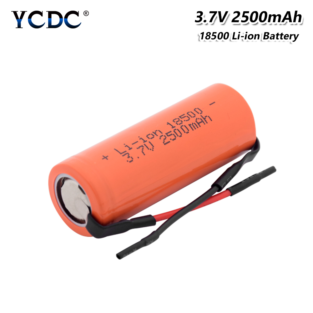 1/2/4 Pieces 3.7 V 18500 2500mAh Li-ion Lithium Batteries Rechargeable 18500 RC Toy Car Led Flashlight Torch Repalcement Cells
