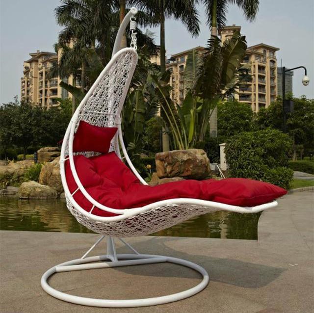 Outdoor Rattan Basket Swing Hanging Chair Lounge Rocking Hammock