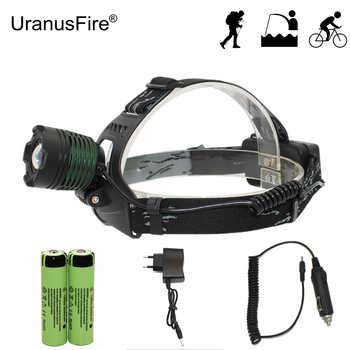 Zoom Headlight Adjust Focus Head Light LED Headlamp Outdoor Flashlight XM-L T6 LED Flashlight + 18650 Battery + AC/Car Charger - DISCOUNT ITEM  48 OFF Lights & Lighting