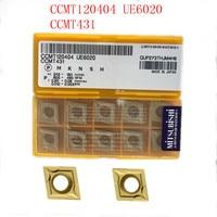 חיתוך כלי מחרטה כלי 20PCS CCMT120404 / CCMT431 VP15TF / UE6020 CNC נירוסטה חיתוך כלי טונגסטן קרביד להב מתכת מחרטה כלי (3)