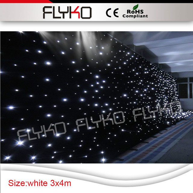 3x4 M White Diy Popular Wedding Backdrop Stade Effect Light Led