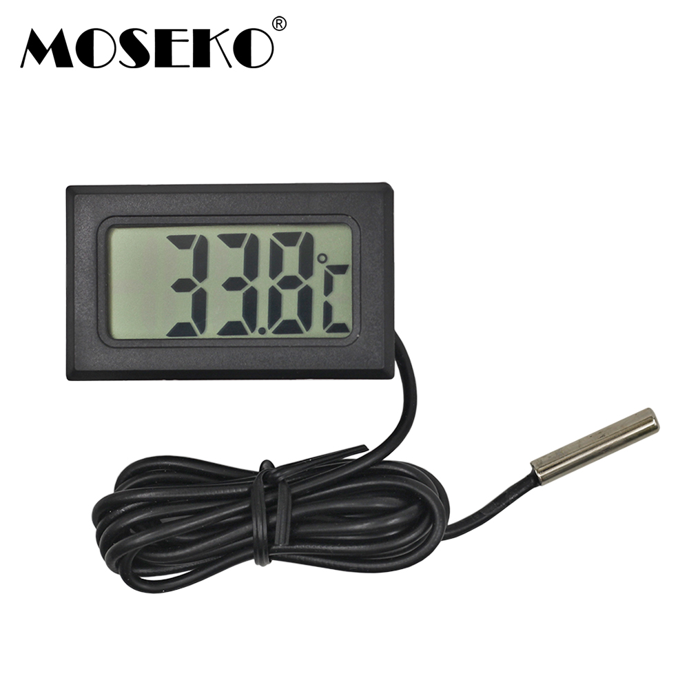 MOSEKO Hot Sale 1PC Digital LCD Probe Fridge Freezer Thermometer Thermograph For Aquarium Refrigerator