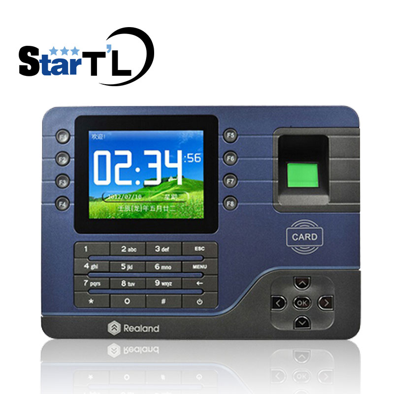 Biometric Fingerprint Time Attendance RFID Card Employee Electronic English Punch Reader Machine A-C091 Realand