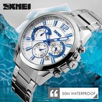 SKMEI Brand Fashion Casual Watches Men S 3ATM Waterproof Quartz Watch Men Date Clock Man