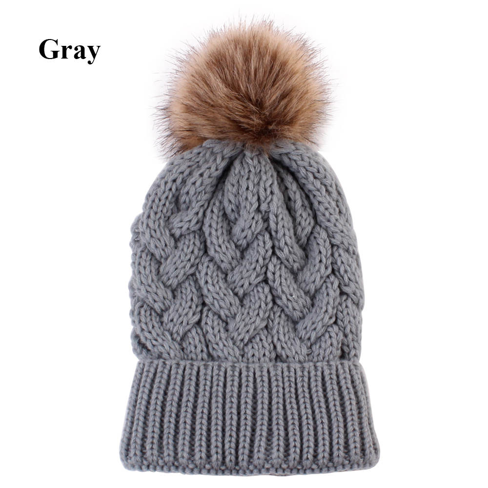 Dropwow 1Pc Fashion Candy Colors Mom or Baby Knitting Keep Warm Hat ... ad0d719c8817