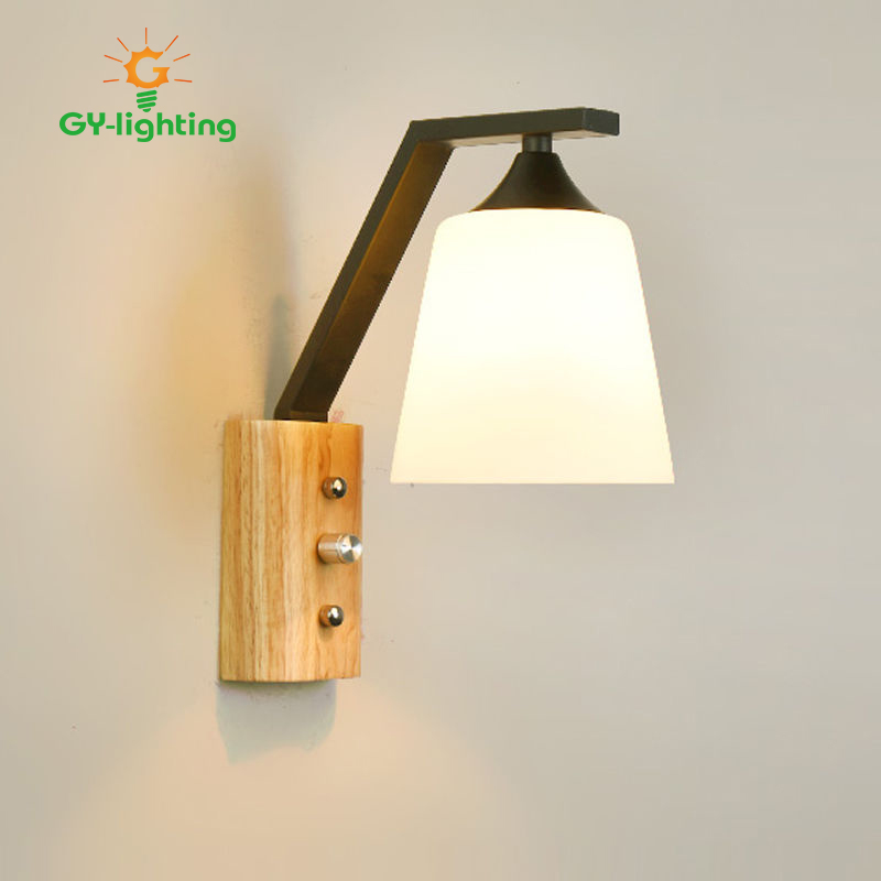 New Style Wood Glass Wall Lamp Wall Sconce Light Fixture Corridor Bedside Indoor Wall Fixture High Quality Bathroom LightNew Style Wood Glass Wall Lamp Wall Sconce Light Fixture Corridor Bedside Indoor Wall Fixture High Quality Bathroom Light