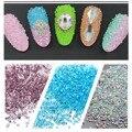 Cuentas de uñas Nail Art Caviar Microperlas Canicas De Vidrio de Uñas Stick Joyería Micro Del Grano de Diamante de Cristal Transparente de Maquillaje de Uñas