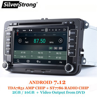 SilverStrong Android7.12 Passat 2din Car DVD GPS for Golf5 VW Polo Jetta Tiguan CC B6 5 cc for skoda octavia fabia 701X3