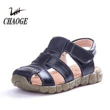 Новые летние из натуральной кожи для мальчиков и девочек Baotou шаг за шагом пляжное легкое водонепроницаемый tidal сандалии#1
