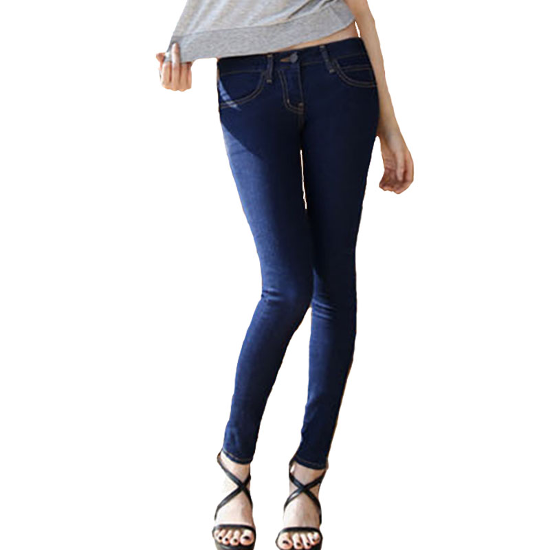 Ladies White Stretch Jeans - Jon Jean
