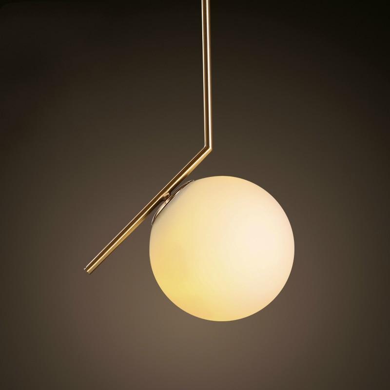 Hot sale simple postmodern style pendant lamp glass ball for Lampe geweih modern