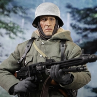 For Collection Full Set 12'' D80130 Model Toys 1/6 DID WWII German Army Panzer SS PANZER DIYISION DAS REICH MG42 Guner Display