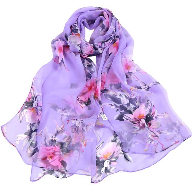 NEW Bandana Floral Printed Scarves Women Autumn Winter Boho Beach Shawl Girls Elegant Ladies Casual Long Soft Wrap Scarf #YL
