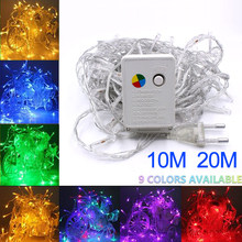 10M Waterproof 110V/220V 100 LED holiday String lights for Christmas Festival Party Fairy Colorful Xmas LED String Lights(China)
