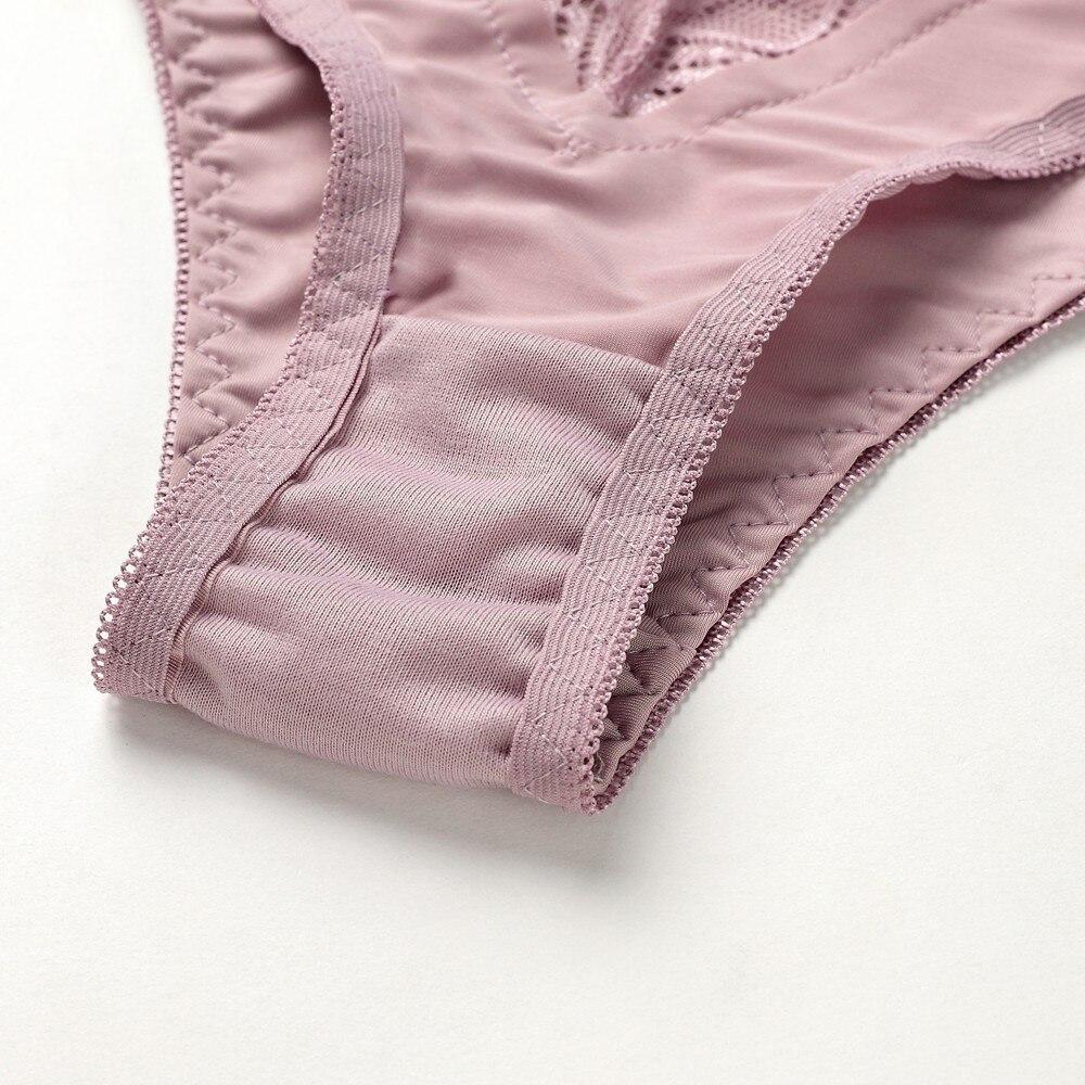 Женский сексуальный комплект нижнего белья, кружевной комплект нижнего белья пуш-ап размера плюс, комплект с бюстгальтером из льна, красный... 35